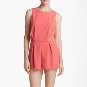ASTR - Coral Romper with Lace